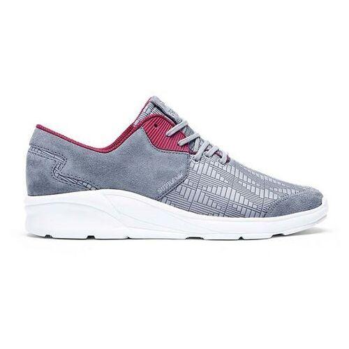 Męskie obuwie sportowe, buty SUPRA - Noiz Steel/Burgundy-White (STL) rozmiar: 42