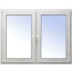Okno PCV rozwierne + rozwierno-uchylne 1465 x 1135 mm symetryczne białe