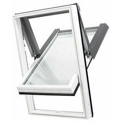 Okno dachowe DOBROPLAST SKYLIGHT PCV 78x140 białe oblachowanie szare + kołnierz falisty zestaw