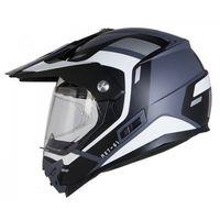 Kaski motocyklowe, KASK OZONE CROSS MXT-01 PINLOCK READY BL/GREY/WHIT