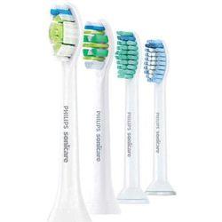 Philips Sonicare Standard HX6004/17 końcówki wymienne do szczoteczki do zębów (DiamondClean; ProResults; InterCare; Sensitive) 4 szt.