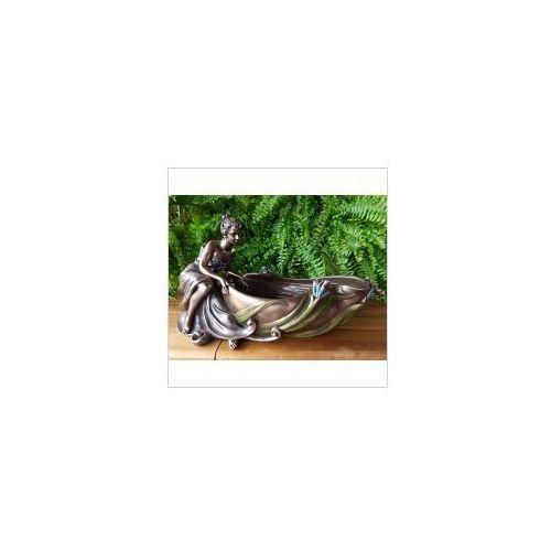 Rzeźby i figurki, SECESYJNA WAZA Z SIEDZĄCĄ LADY VERONESE (AN10023V4)