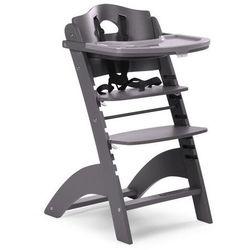 Krzesełko drewniane do karmienia dla niemowląt Lambda 2 - antracyt - Childhome
