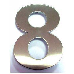 """Cyfra """"8"""" na dom ze stali nierdzewnej 155 mm"""