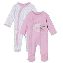 Pajacyk niemowlęcy (2 szt.), bawełna organiczna bonprix jasnoróżowy