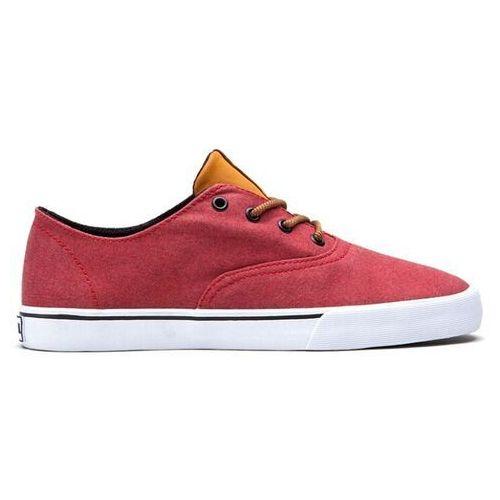 Męskie obuwie sportowe, buty SUPRA - Wrap Lowt Red/Spice - White (RSC)