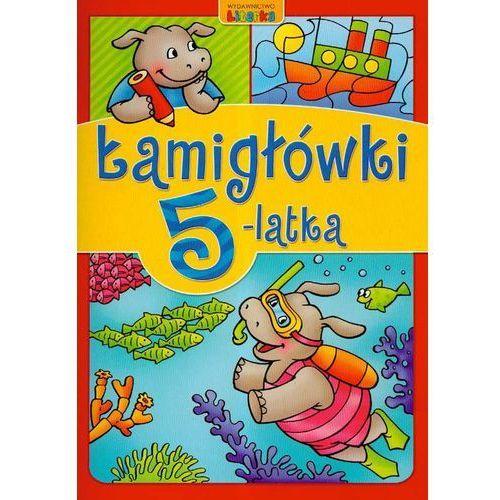 Książki dla dzieci, Łamigłówki 5-latka (opr. miękka)
