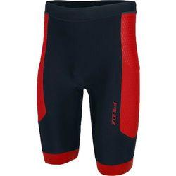 Zone3 Aquaflo Plus Spodnie krótkie Mężczyźni, black/red S 2018 Stroje kąpielowe