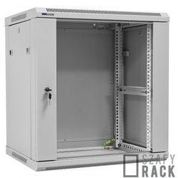 Szafa Rack 19'' 12U 450mm wisząca W6412, Szafa - Rozłożona, Kolor - Biały