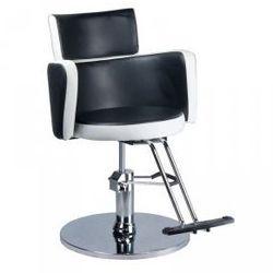 Fotel Fryzjerski Luigi Br-3927 Czarno - Biały