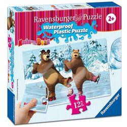 Puzzle plastikowe 12 elementów. Masza i Niedźwiedź. Święto na lodzie + zakładka do książki GRATIS