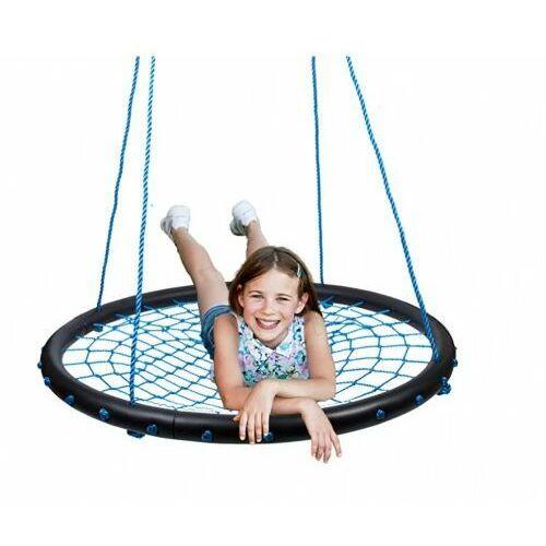 Huśtawki ogrodowe dla dzieci, Huśtawka Gniazdo Siatka 100cm 160kg - Niebieska