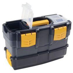 Plastikowe walizki na narzędzia z dodatkowym pojemnikiem
