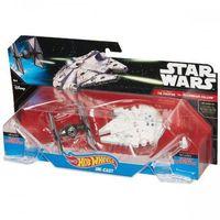 Rakiety i statki kosmiczne dla dzieci, Hot Wheels SW Statek kosmiczny dwupak First Order Tie Fighter vs Millennium Falcon Starship