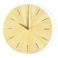 Zegary, Woodway Clock - Cross- Zegar ścienny Bambus