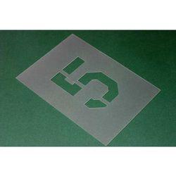 Komplet:44 szablony LITERY i CYFRY- krój czcionki carrier - wys. 10 cm