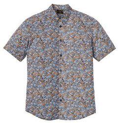 """Koszula z krótkim rękawem """"paisley"""" bonprix ciemnoniebiesko-koniakowy """"paisley"""""""