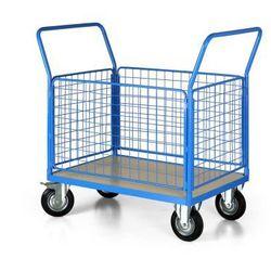 Wózek platformowy z 4 ścianami drucianymi, 1000x700 mm