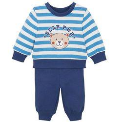 Bluza dresowa i spodnie niemowlęce (2 części), bawełna organiczna bonprix kobaltowo-błękitny