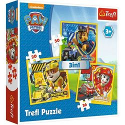 Puzzle 3w1 Psi Patrol - Marshall, Rubble i Chase