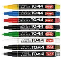 Markery, Marker olejowy Toma TO-441 1,5mm fine czerwony
