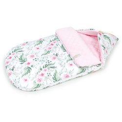 """Śpiworek do wózka gondoli fotelika 12-24 miesięcy """"M"""" - Różany ogród / jasny róż"""