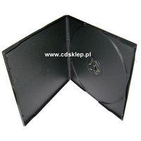 Pudełka i portfele na płyty, Etui plastikowe na 1DVD SLIM 5mm kwadratowe czarne