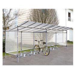"""Wiata na rowery aluminiowa typu """"Eco"""" - 5 stanowisk dla rowerów + poszerzenie o kolejne 5 stanowisk"""