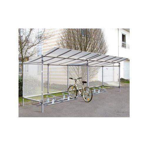 """Pozostała odzież robocza i BHP, Wiata na rowery aluminiowa typu """"Eco"""" - 5 stanowisk dla rowerów + poszerzenie o kolejne 5 stanowisk"""