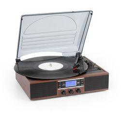 Auna TT-138 DAB, gramofon, DAB + / FM, napęd pasowy, 33/45 obr./min, wyjście liniowe