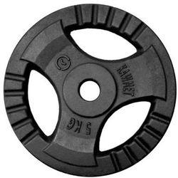 Obciążenie żeliwne do sztangi grafitowe (30,5 mm) 5 kg - 5 kg
