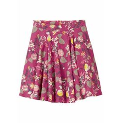 Spódnica dresowa dziewczęca, bawełna organiczna bonprix fioletowy z nadrukiem