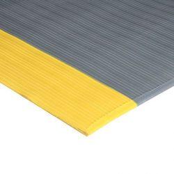 Mata zapobiegająca zmęczeniu prążkowana, z żółtymi krawędziami, 0,9 x 5 m
