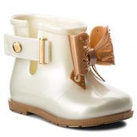 Kalosze dziecięce, Kalosze MELISSA - Mini Melissa Sugar Rain Bb 32388 White/Gold 53310