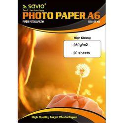 Papier fotograficzny SAVIO PA-17 A6 260g/m2 20szt. błysk