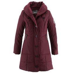Płaszcz pikowany bonprix czerwony klonowy