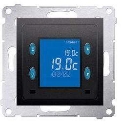 Regulator temperatury z wyświetlaczem (czujnik wewnętrzny) antracyt, metalizowany Kontakt Simon 54 D75816.01/48