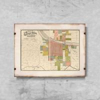 Plakaty, Plakat w stylu retro Plakat w stylu retro Stara mapa Nowego Jorku i Manhattanu
