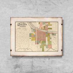 Plakat w stylu retro Plakat w stylu retro Stara mapa Nowego Jorku i Manhattanu
