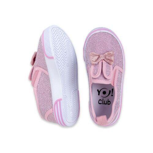 Buty sportowe dla dzieci, Trampki różowe królik z kokardą 29