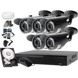 Zestaw do monitoringu: Rejestrator LV-XVR84N, 5x Kamera LV-AL20HT, 1TB, akcesoria