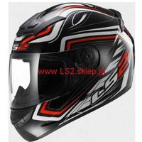 Kaski motocyklowe, KASK MOTOCYKLOWY KASK LS2 FF352 ROOKIE RANGER BLACK RED