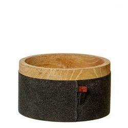 Miska Mango Wood czarna 15x8,5cm OOhh