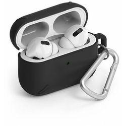 Ringke AirPods Case wytrzymałe etui case na słuchawki AirPods Pro + karabińczyk czarny (ACEC0013) - Czarny