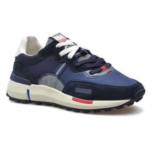 Półbuty męskie, Sneakersy Wrangler WM01121A Granatowe