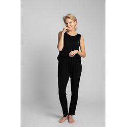 LA025 Spodnie do spania z wąskimi nogawkami - czarny