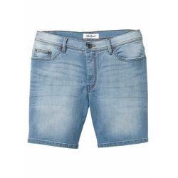 """Wygodne długie szorty dżinsowe ze stretchem Regular Fit bonprix niebieski """"bleached"""