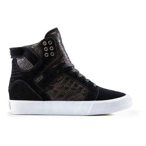 Damskie obuwie sportowe, buty SUPRA - Womens Skytop Wedge Black-White (BLK) rozmiar: 37.5