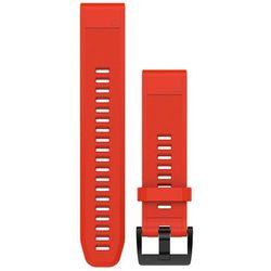 Garmin fenix 5 Silicone Bracelet QuickFit 22mm, red 2019 Akcesoria do zegarków Przy złożeniu zamówienia do godziny 16 ( od Pon. do Pt., wszystkie metody płatności z wyjątkiem przelewu bankowego), wysyłka odbędzie się tego samego dnia.