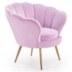 Fotel wypoczynkowy do salonu muszelka Shelli - pudrowy róż
